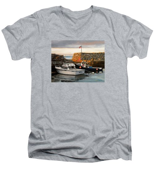 Lanes Cove Fishing Boats Men's V-Neck T-Shirt