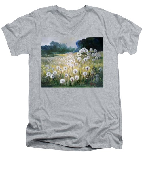 Lanscape With Blow-balls Men's V-Neck T-Shirt