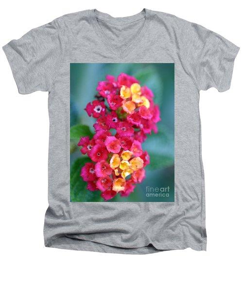 Men's V-Neck T-Shirt featuring the photograph Lantana by Henrik Lehnerer