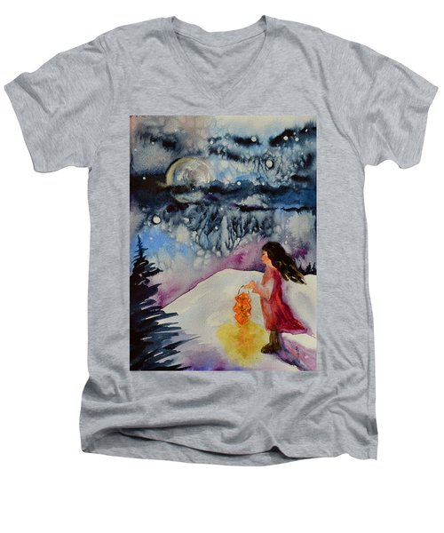 Lantern Festival Men's V-Neck T-Shirt