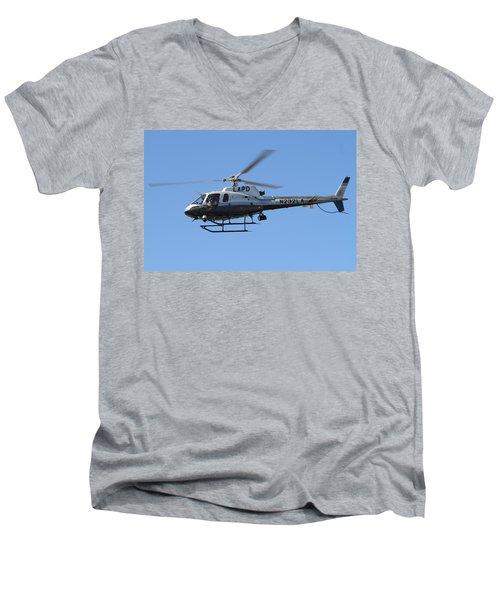 Lapd In Flight Men's V-Neck T-Shirt by Shoal Hollingsworth