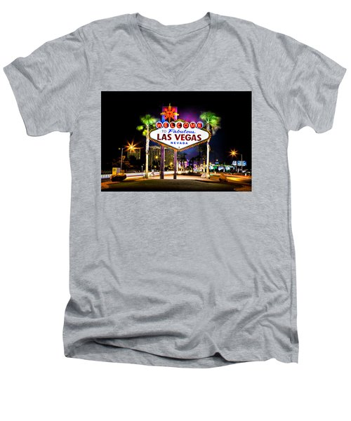 Las Vegas Sign Men's V-Neck T-Shirt