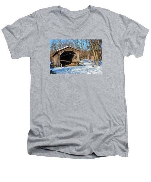 Last Covered Bridge Men's V-Neck T-Shirt