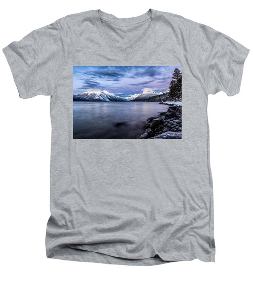 Men's V-Neck T-Shirt featuring the photograph Last Light by Aaron Aldrich