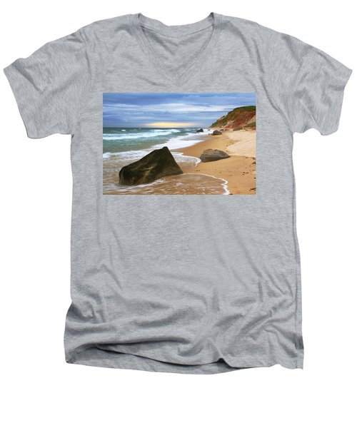 Men's V-Neck T-Shirt featuring the photograph Last Light Before The Storm by Roupen  Baker
