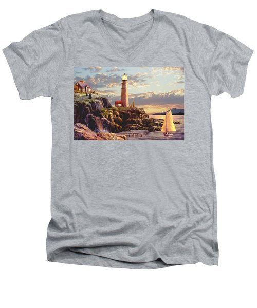 Last Light  Men's V-Neck T-Shirt by Ron Chambers