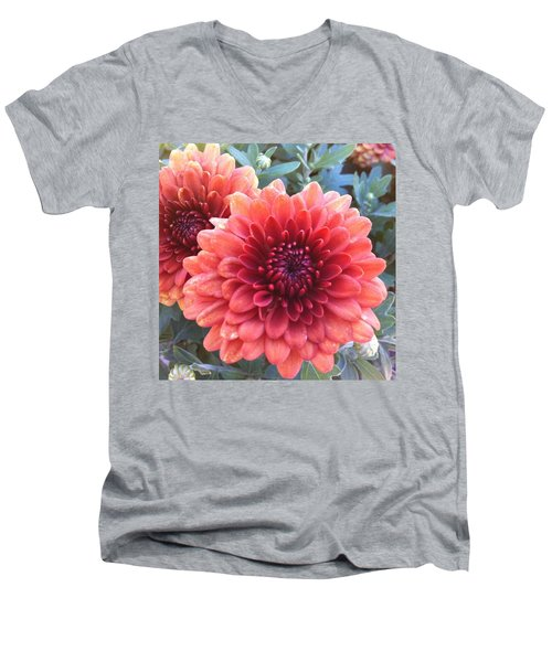 Men's V-Neck T-Shirt featuring the photograph Last Of The Summer by Denyse Duhaime