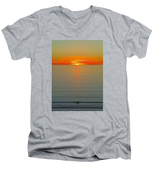 Last Rays Men's V-Neck T-Shirt by Jocelyn Kahawai