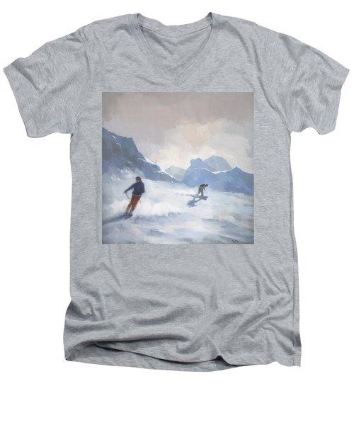 Last Run Les Arcs Men's V-Neck T-Shirt