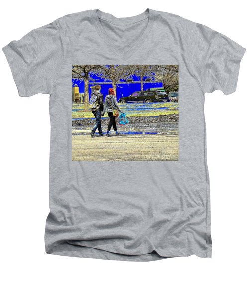 Last Stop Before Home Men's V-Neck T-Shirt