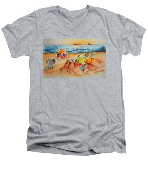 Late Afternoon Beach Men's V-Neck T-Shirt