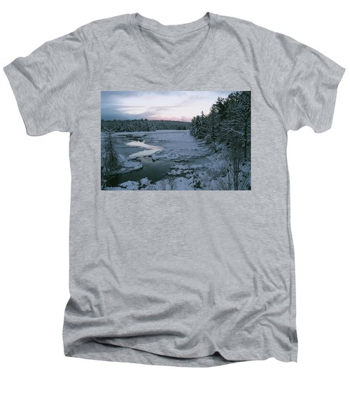 Men's V-Neck T-Shirt featuring the photograph Late Afternoon In Winter by David Porteus