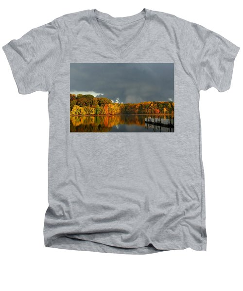 Late Autumn Storm Men's V-Neck T-Shirt