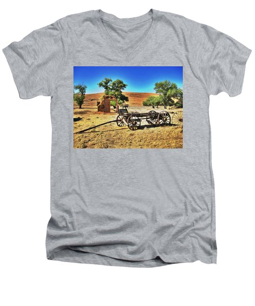 Late For Market Men's V-Neck T-Shirt