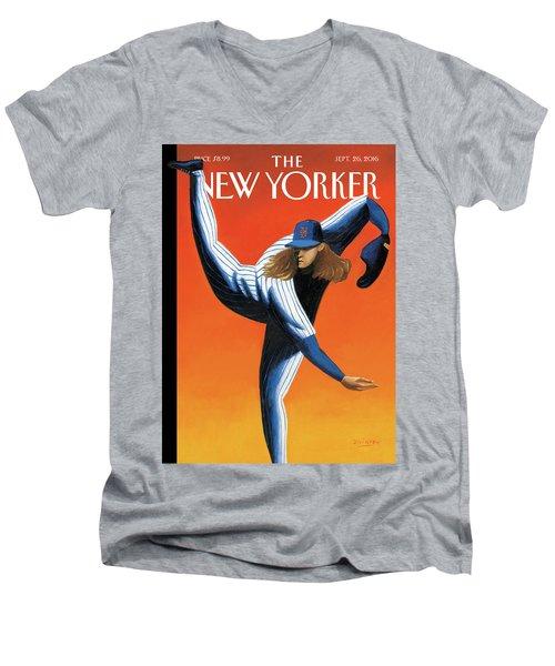 Late Innings Men's V-Neck T-Shirt