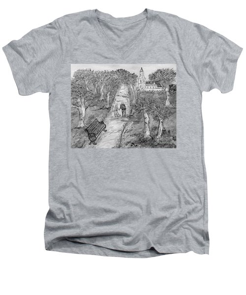 L'autunno Della Vita Men's V-Neck T-Shirt by Loredana Messina