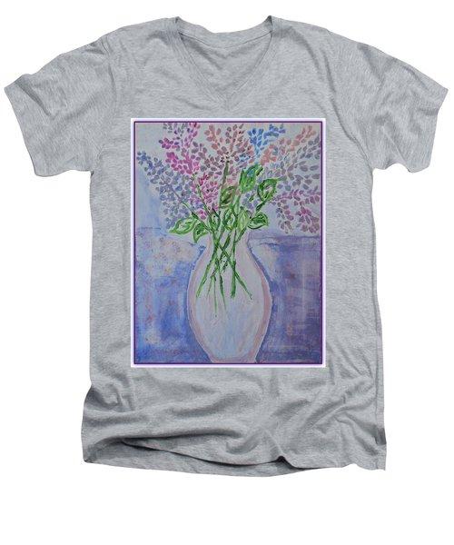 Lavendar  Flowers Men's V-Neck T-Shirt by Sonali Gangane