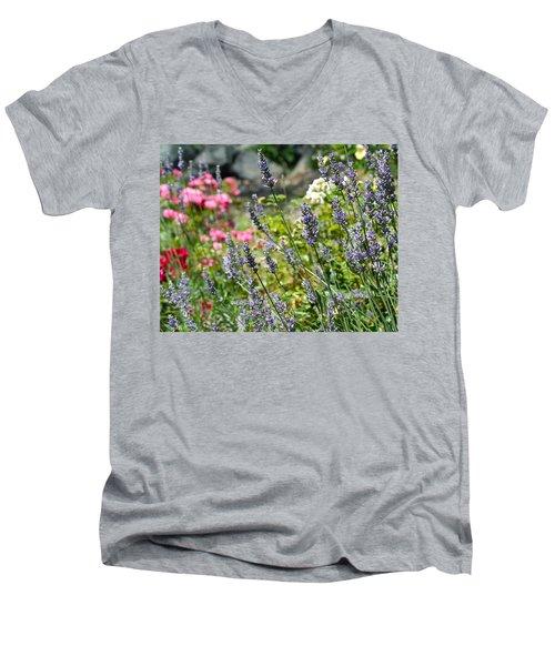 Lavender In Bloom Men's V-Neck T-Shirt