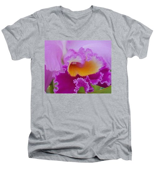 Men's V-Neck T-Shirt featuring the photograph Lavender Orchid by Aimee L Maher Photography and Art Visit ALMGallerydotcom