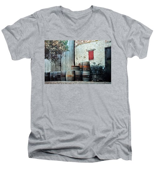 Men's V-Neck T-Shirt featuring the photograph Lazy Afternoon At The Winery by Diane Alexander