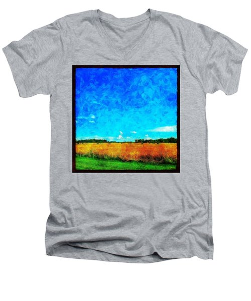 Lazy Clouds In The Summer Sun Men's V-Neck T-Shirt