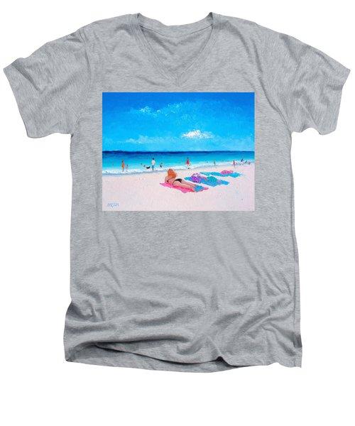 Lazy Day Men's V-Neck T-Shirt
