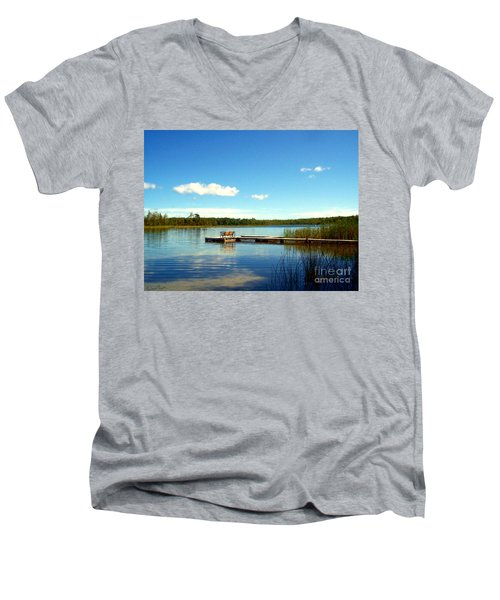 Lazy Summer Day Men's V-Neck T-Shirt by Desiree Paquette