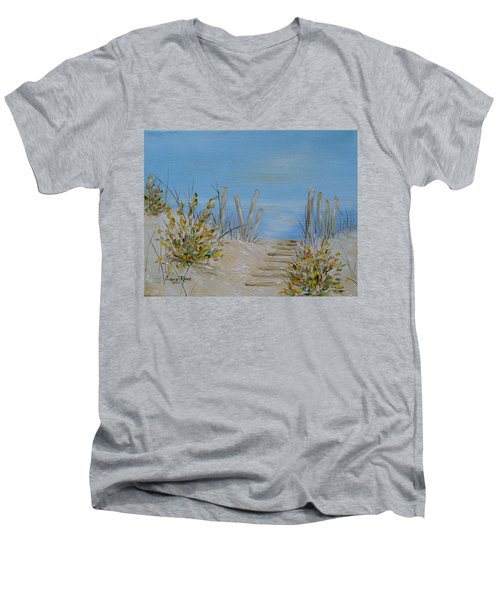 Lbi Peace Men's V-Neck T-Shirt by Judith Rhue