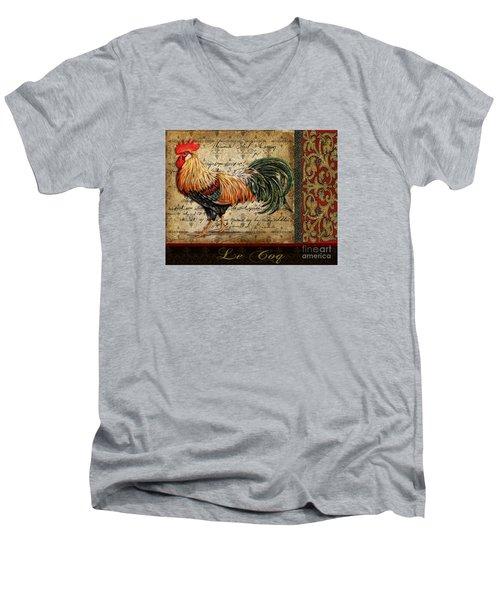 Le Coq-c Men's V-Neck T-Shirt by Jean Plout