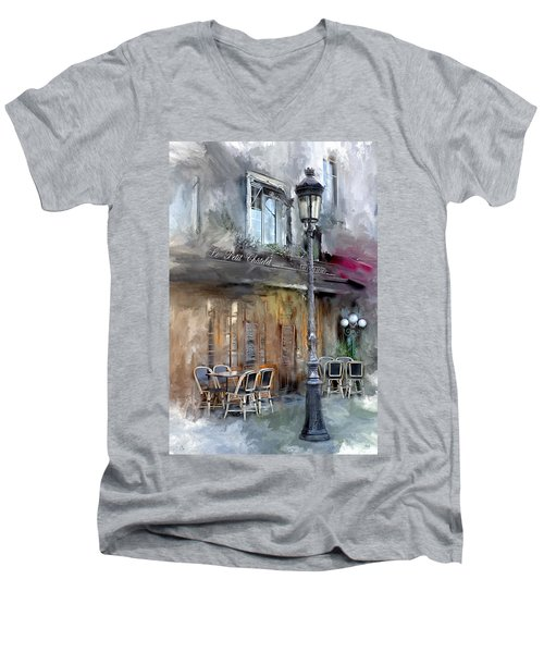 Le Petit Paris Men's V-Neck T-Shirt