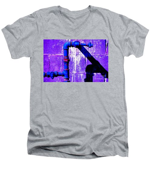 Men's V-Neck T-Shirt featuring the photograph Leaky Faucet IIi by Christiane Hellner-OBrien