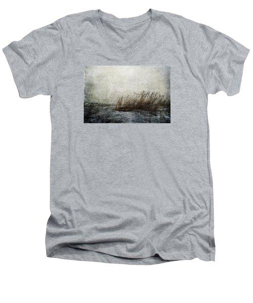 Leaning Straws Men's V-Neck T-Shirt by Randi Grace Nilsberg
