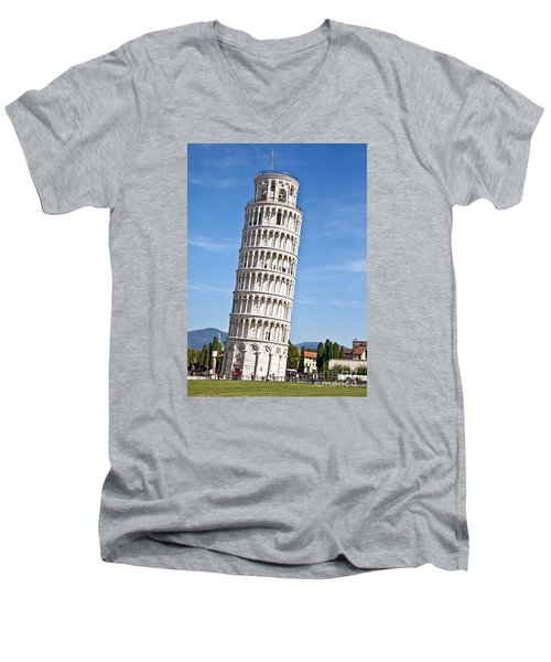 Leaning Tower Of Pisa Men's V-Neck T-Shirt