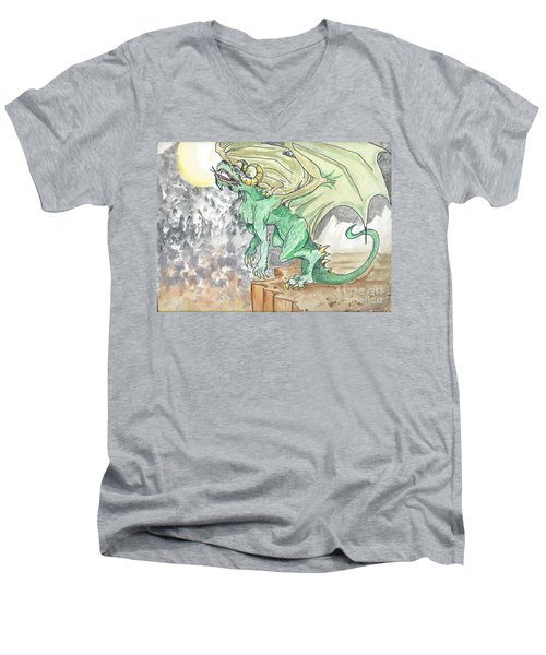 Leaping Dragon Men's V-Neck T-Shirt