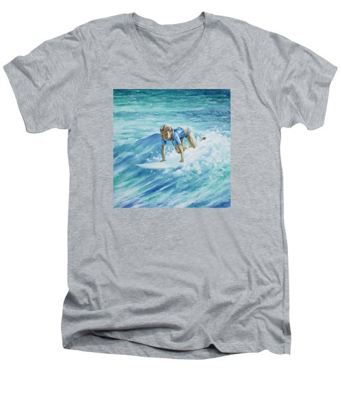 Learning To Fly Men's V-Neck T-Shirt by William Love