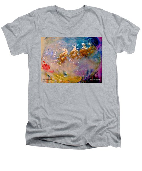 Men's V-Neck T-Shirt featuring the painting Leave Some Cookies For Santa by Lisa Kaiser