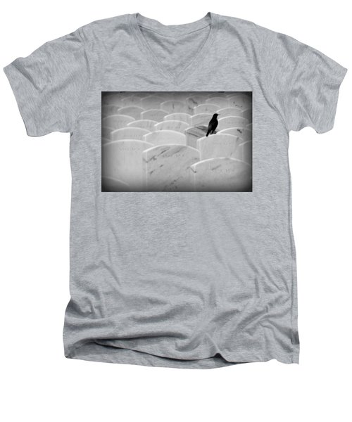 Men's V-Neck T-Shirt featuring the photograph Leavenworth by Lynn Sprowl