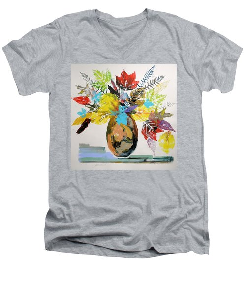 Leaves And Fronds Men's V-Neck T-Shirt