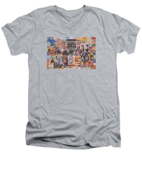 Led Zeppelin Years Collage Men's V-Neck T-Shirt