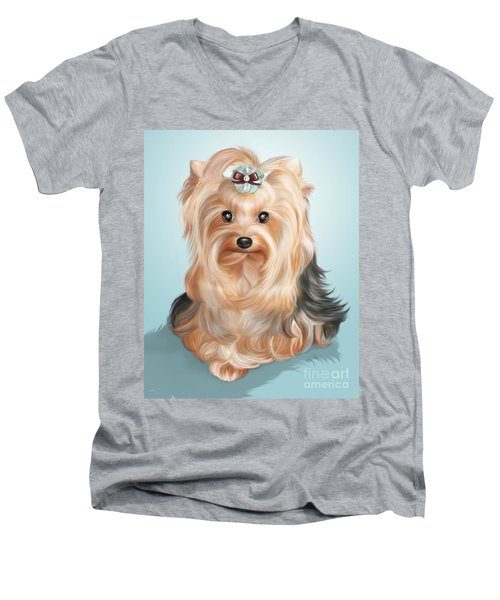 Leetl Luloo Zazu  Men's V-Neck T-Shirt by Catia Cho