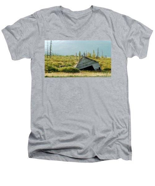 Left Behind Men's V-Neck T-Shirt by Denyse Duhaime