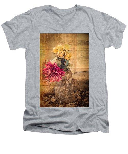 Left For A Loved One Men's V-Neck T-Shirt