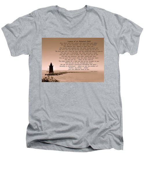 Legacy Of An Adopted Child Men's V-Neck T-Shirt