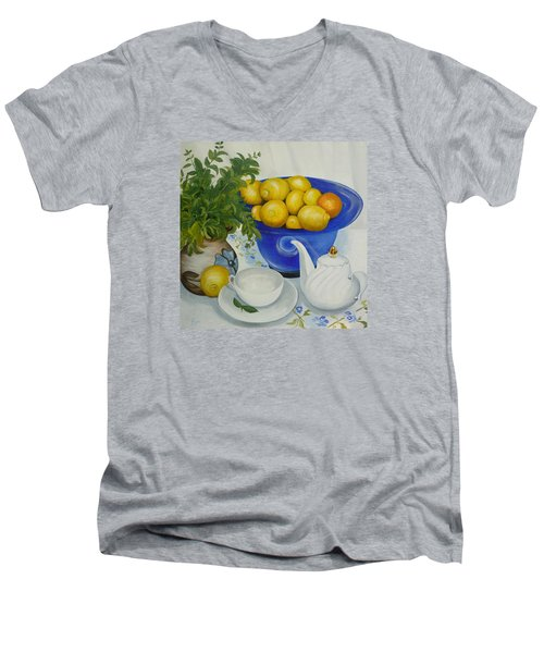 Lemon Tea Men's V-Neck T-Shirt
