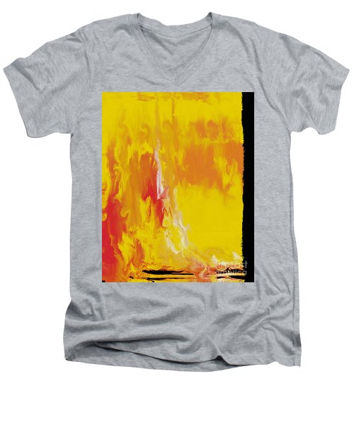 Lemon Yellow Sun Men's V-Neck T-Shirt