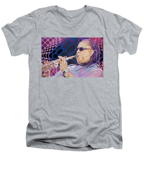 Leroi Moore Men's V-Neck T-Shirt by Joshua Morton