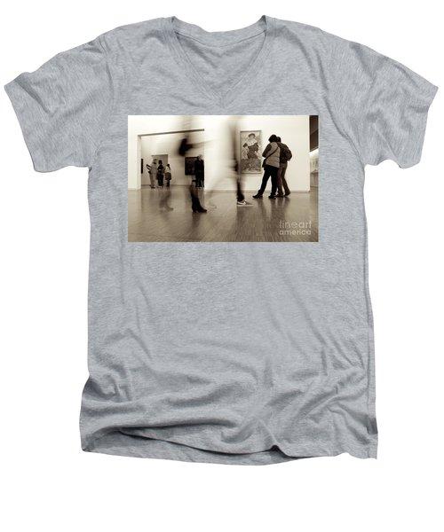 Les Fantasmes De Pompidou Men's V-Neck T-Shirt