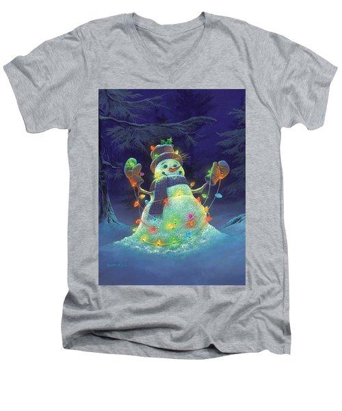 Let It Glow Men's V-Neck T-Shirt