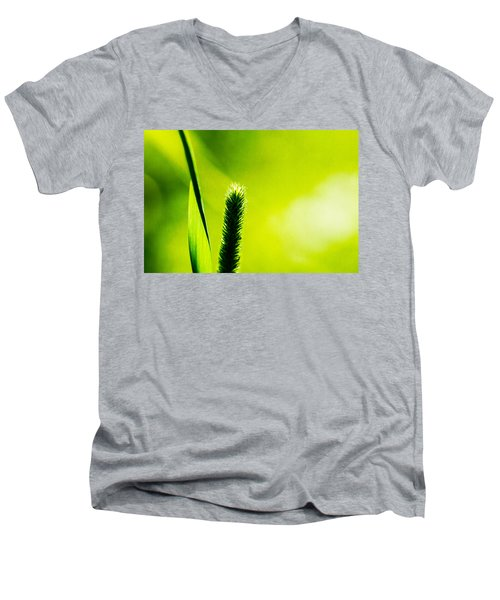 Let World Be Green Men's V-Neck T-Shirt