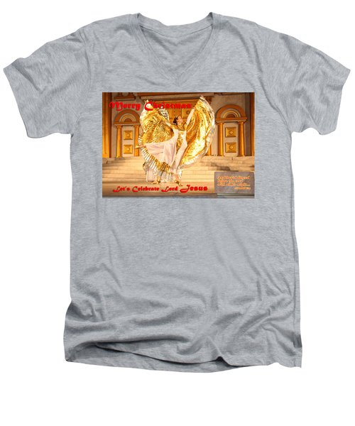 Let's Celebrate Lord Jesus And Dance Men's V-Neck T-Shirt